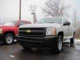 2010 Sheer Silver Metallic Chevrolet Silverado 1500 Extended Cab 4x4 #22990446