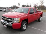 2010 Victory Red Chevrolet Silverado 1500 LS Extended Cab #22992490