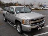 2010 Sheer Silver Metallic Chevrolet Silverado 1500 LT Crew Cab #22992477