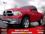 2009 Flame Red Dodge Ram 1500 SLT Regular Cab 4x4 #22980481