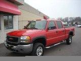 2005 Fire Red GMC Sierra 2500HD Crew Cab 4x4 #22990433