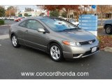 2007 Galaxy Gray Metallic Honda Civic EX Coupe #22969764