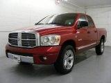 2008 Inferno Red Crystal Pearl Dodge Ram 1500 Laramie Quad Cab 4x4 #22990117
