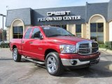 2008 Inferno Red Crystal Pearl Dodge Ram 1500 Lone Star Edition Quad Cab #22987331
