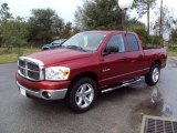2008 Inferno Red Crystal Pearl Dodge Ram 1500 Big Horn Edition Quad Cab #22993545