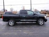 2008 Brilliant Black Crystal Pearl Dodge Ram 1500 Laramie Quad Cab 4x4 #22972991