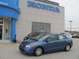 2007 Atomic Blue Metallic Honda Civic LX Sedan #22970767