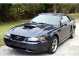 2001 True Blue Metallic Ford Mustang GT Convertible #23084550