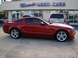 Dark Candy Apple Red Ford Mustang in 2008