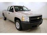 2008 Silver Birch Metallic Chevrolet Silverado 1500 Work Truck Extended Cab #23188707
