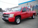 2009 Victory Red Chevrolet Silverado 1500 LT Extended Cab 4x4 #23170933