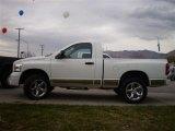 2008 Bright White Dodge Ram 1500 SLT Regular Cab 4x4 #23164452