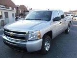 2010 Sheer Silver Metallic Chevrolet Silverado 1500 LS Crew Cab #23190360