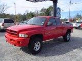 2001 Flame Red Dodge Ram 1500 Sport Club Cab 4x4 #23186576