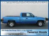 2001 Intense Blue Pearl Dodge Ram 1500 SLT Club Cab #23164855