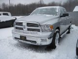 2010 Bright Silver Metallic Dodge Ram 1500 Big Horn Quad Cab 4x4 #23187306