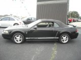2001 Black Ford Mustang V6 Convertible #23191325