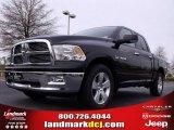 2010 Brilliant Black Crystal Pearl Dodge Ram 1500 Big Horn Crew Cab #23177516