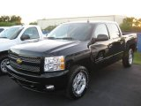 2010 Black Chevrolet Silverado 1500 LT Crew Cab 4x4 #23257139