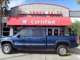 2002 Indigo Blue Metallic Chevrolet Silverado 1500 HD LT Crew Cab #23256806