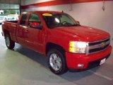 2007 Victory Red Chevrolet Silverado 1500 LTZ Extended Cab 4x4 #23249625