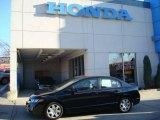 2007 Nighthawk Black Pearl Honda Civic LX Sedan #23257121
