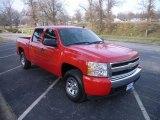 2007 Victory Red Chevrolet Silverado 1500 LS Crew Cab 4x4 #23351889