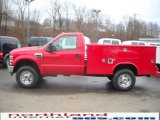 2010 Vermillion Red Ford F350 Super Duty XL Regular Cab 4x4 Chassis #23378204
