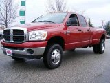 2007 Inferno Red Crystal Pearl Dodge Ram 3500 SLT Quad Cab 4x4 Dually #23375258