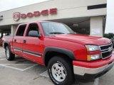 2006 Victory Red Chevrolet Silverado 1500 Z71 Crew Cab 4x4 #23456422