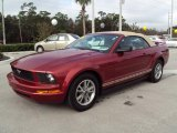 2005 Redfire Metallic Ford Mustang V6 Premium Convertible #23461906