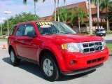 2009 Torch Red Ford Escape XLS #23445054