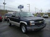 2005 Dark Blue Metallic Chevrolet Silverado 1500 Z71 Extended Cab 4x4 #23447249