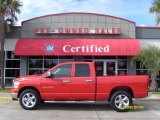 2006 Flame Red Dodge Ram 1500 SLT Quad Cab #23443983