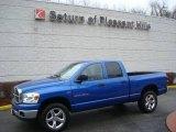 2007 Electric Blue Pearl Dodge Ram 1500 SLT Quad Cab 4x4 #23444732
