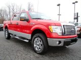 2010 Vermillion Red Ford F150 XLT SuperCrew 4x4 #23448770