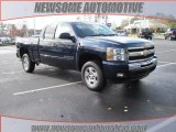 2009 Imperial Blue Metallic Chevrolet Silverado 1500 LT Extended Cab #23533360