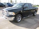 2010 Brilliant Black Crystal Pearl Dodge Ram 1500 Big Horn Quad Cab #23522183