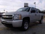 2010 Sheer Silver Metallic Chevrolet Silverado 1500 LS Extended Cab #23570710
