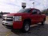 2009 Victory Red Chevrolet Silverado 1500 LS Crew Cab #23570702
