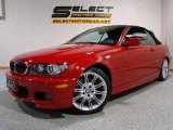 2006 Electric Red BMW 3 Series 330i Convertible #2349173
