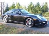 2008 Basalt Black Metallic Porsche 911 Turbo Cabriolet #23560395