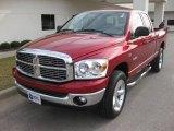 2008 Inferno Red Crystal Pearl Dodge Ram 1500 Big Horn Edition Quad Cab 4x4 #23569081