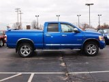 2008 Electric Blue Pearl Dodge Ram 1500 Laramie Quad Cab 4x4 #23559166