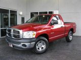 2008 Inferno Red Crystal Pearl Dodge Ram 1500 SXT Regular Cab #23559294