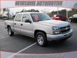 2006 Silver Birch Metallic Chevrolet Silverado 1500 LS Crew Cab #23663128