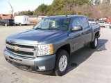 2010 Blue Granite Metallic Chevrolet Silverado 1500 LT Crew Cab #23662826