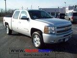2010 Sheer Silver Metallic Chevrolet Silverado 1500 LT Crew Cab 4x4 #23655958