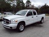 2007 Bright White Dodge Ram 1500 SLT Quad Cab #23662949