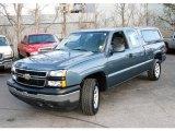 2007 Blue Granite Metallic Chevrolet Silverado 1500 Classic Work Truck Extended Cab 4x4 #23734893
